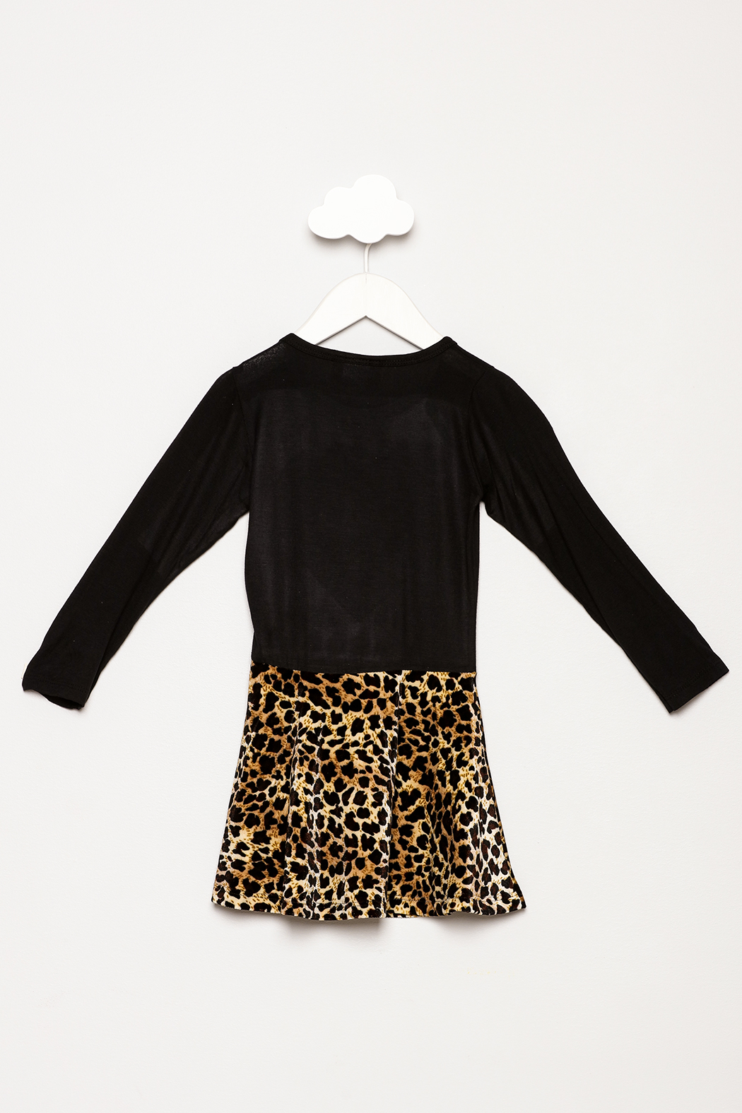 Dori Creations Heart Leopard Print Dress - Back Cropped Image