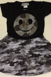 Dori Creations Smiley Camo Dress - Front cropped