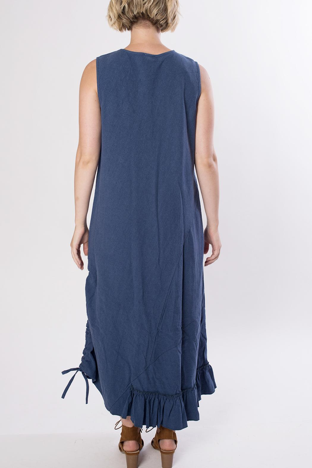 Dorman Blue Midi Dress - Side Cropped Image