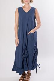 Dorman Blue Midi Dress - Front full body
