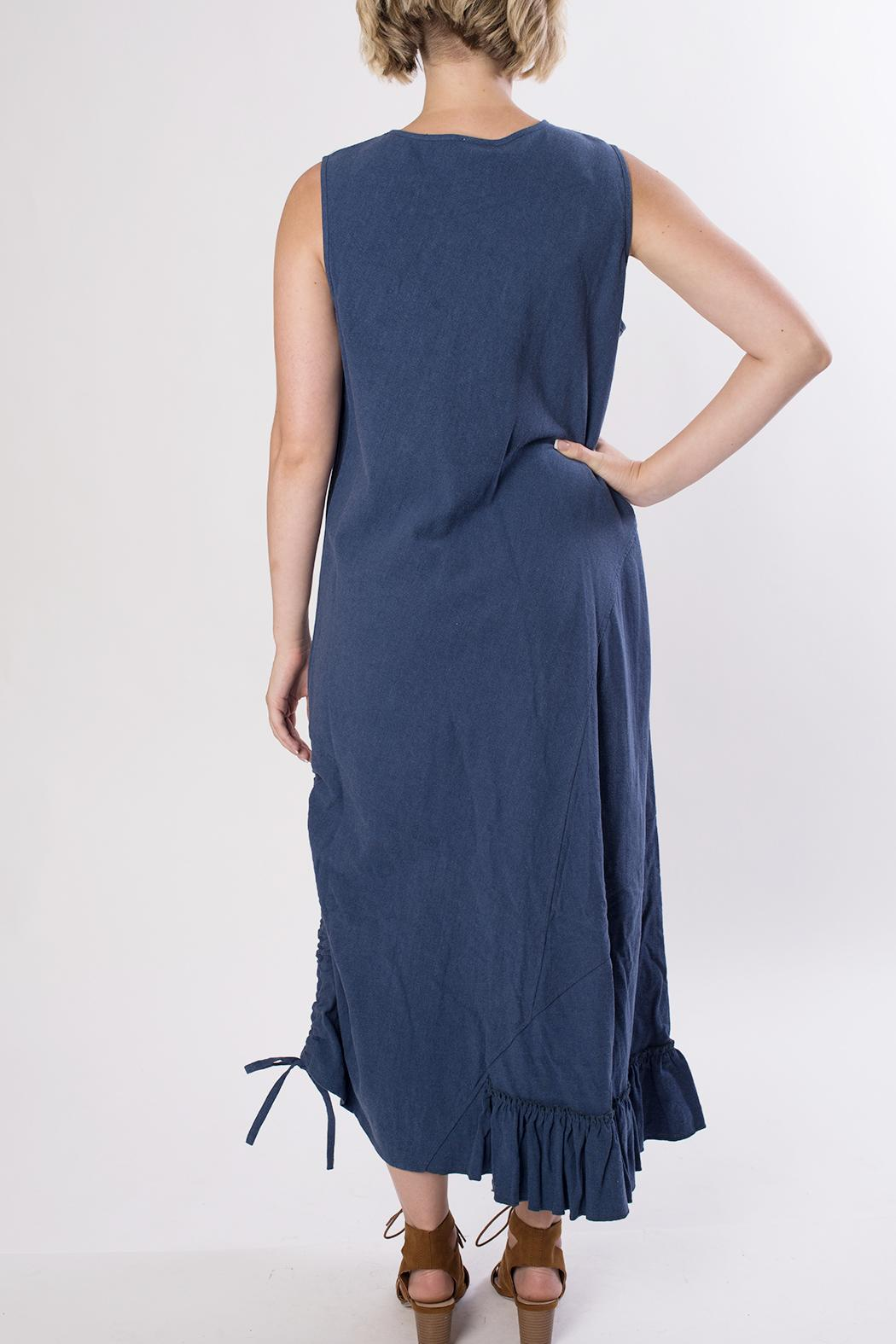 Dorman Blue Midi Dress - Back Cropped Image