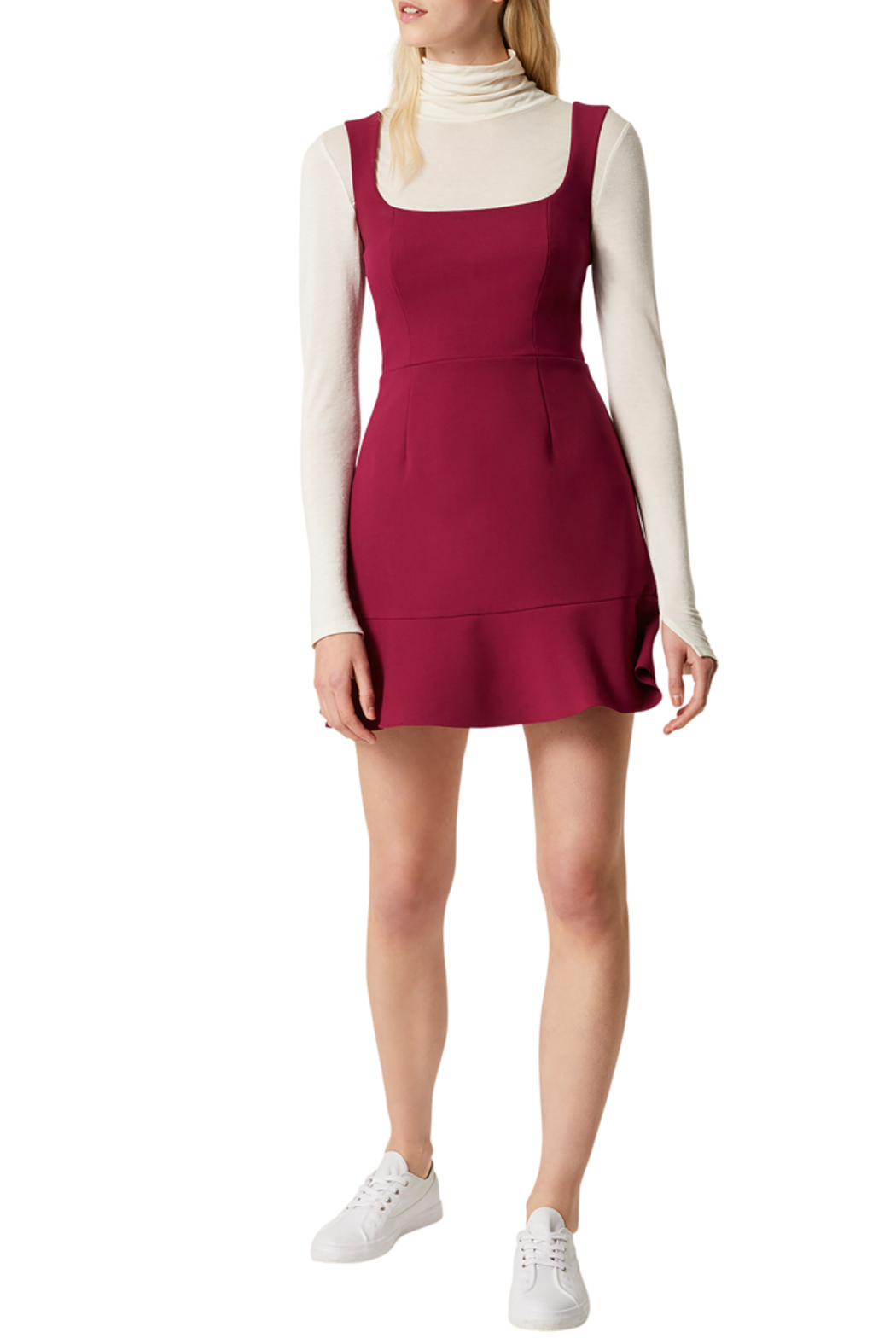 French Connection DOROTEA FLARE DRESS - Back Cropped Image