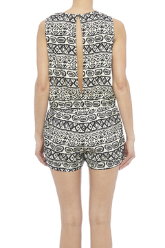 Shoptiques Product: Black And White Romper
