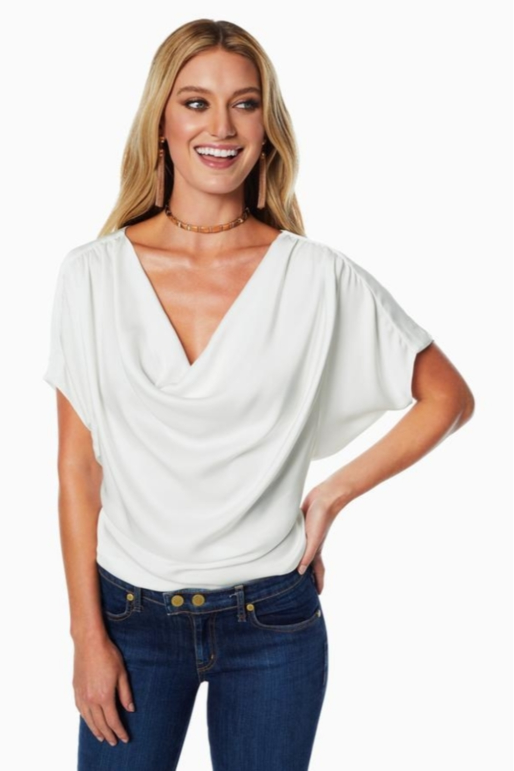 Ramy Brook DOROTHY COWL NECK TOP - Side Cropped Image