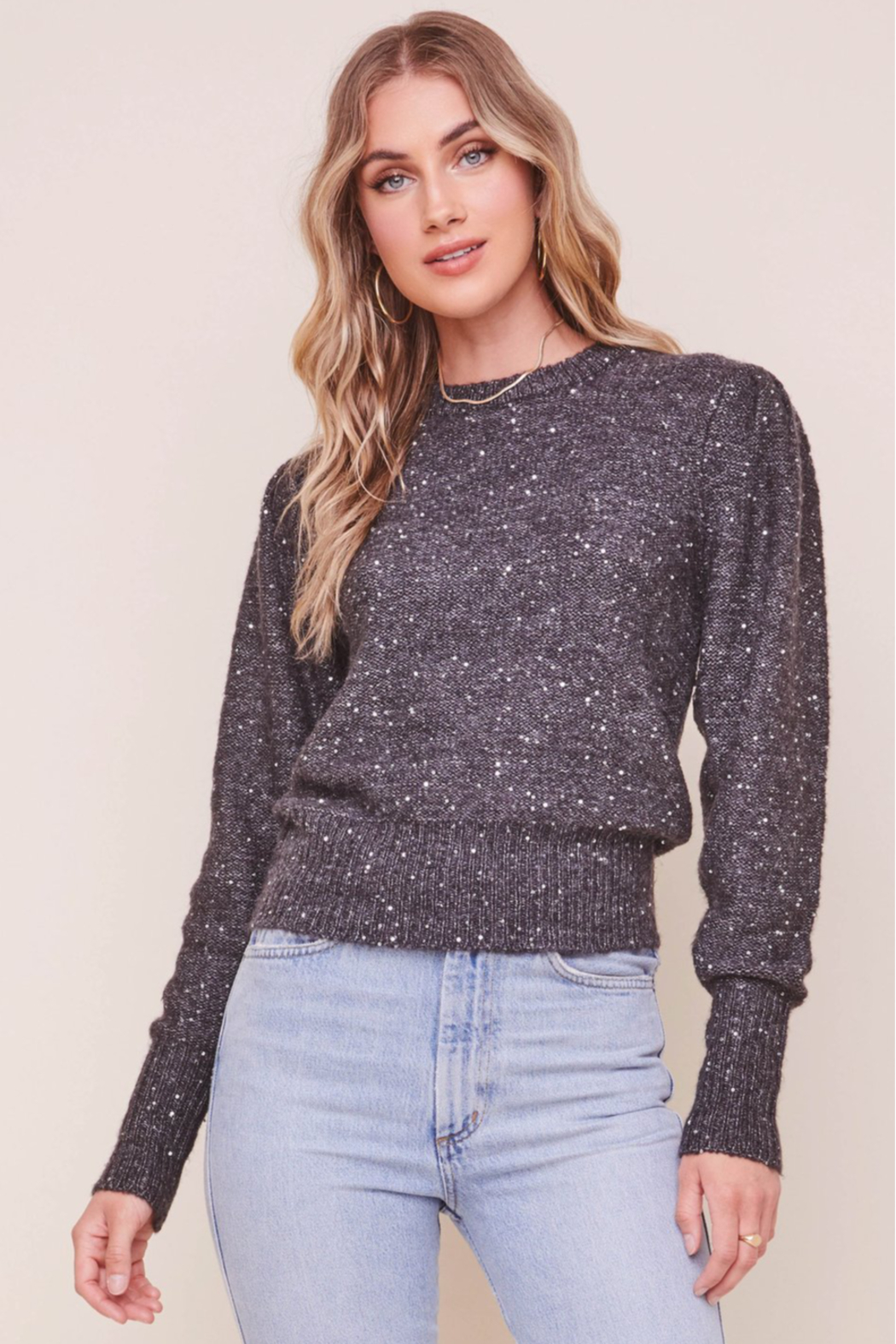 ASTR Dorothy Sweater - Front Cropped Image