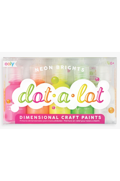 Ooly Dot-a-Lot Dot Painting Set - set of 5 Neon Brights - Product List Image