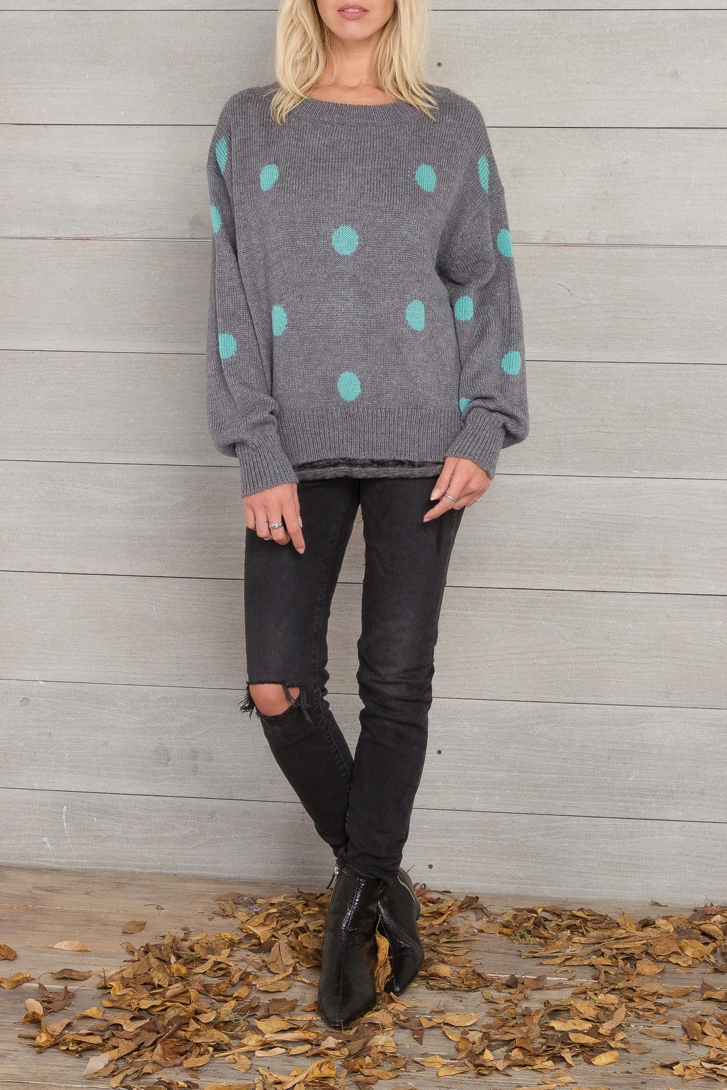 Wooden Ships Dot Crewneck Sweater - Front Full Image