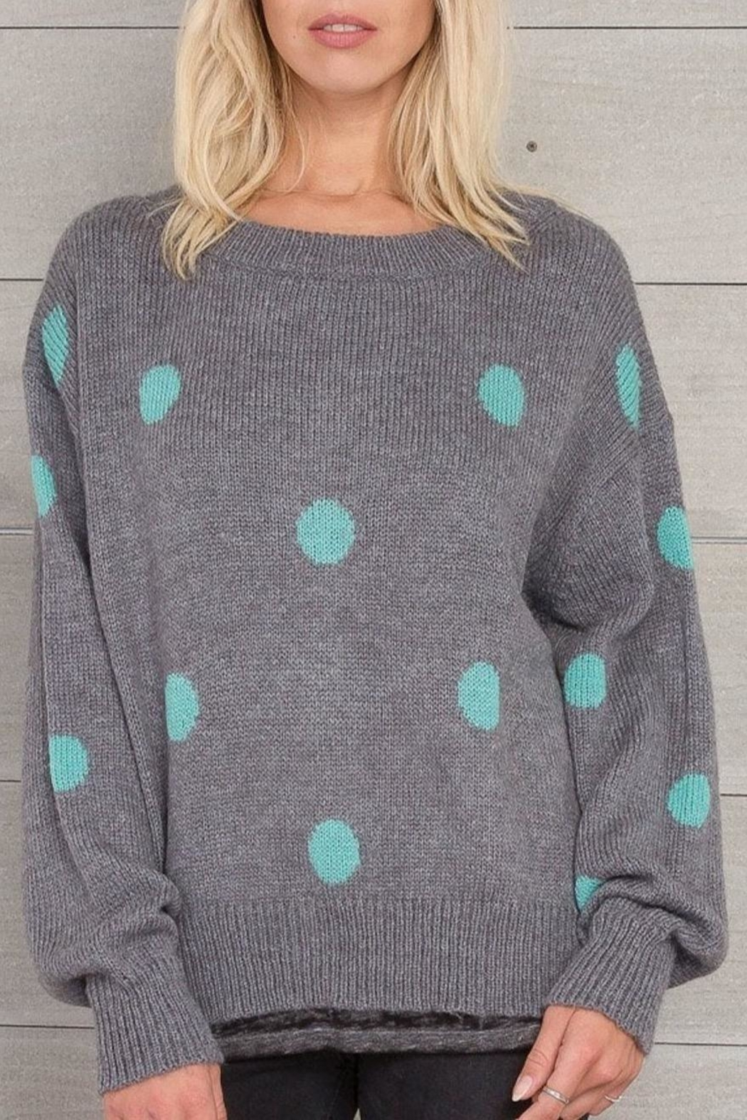 Wooden Ships Dot Crewneck Sweater - Main Image