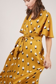 FRNCH Dot Mustard Dress - Product Mini Image