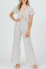 veveret Dot Tie Jumpsuit - Product Mini Image