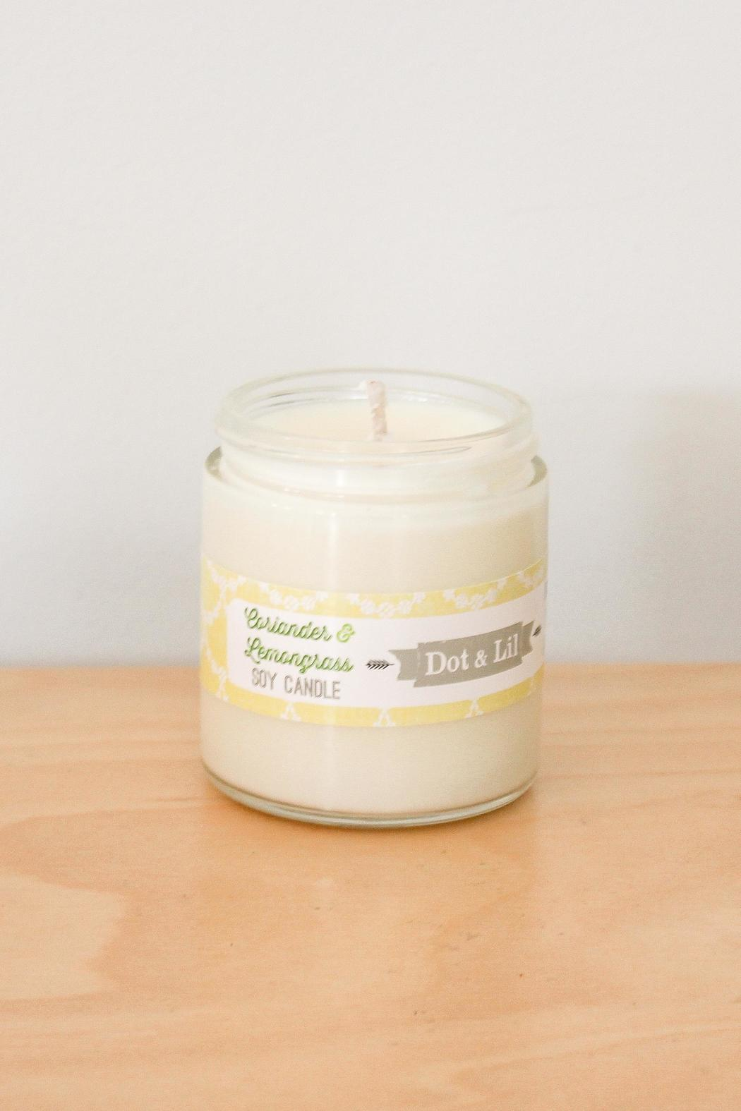Dot & Lil Coriander Soy Candle - Main Image