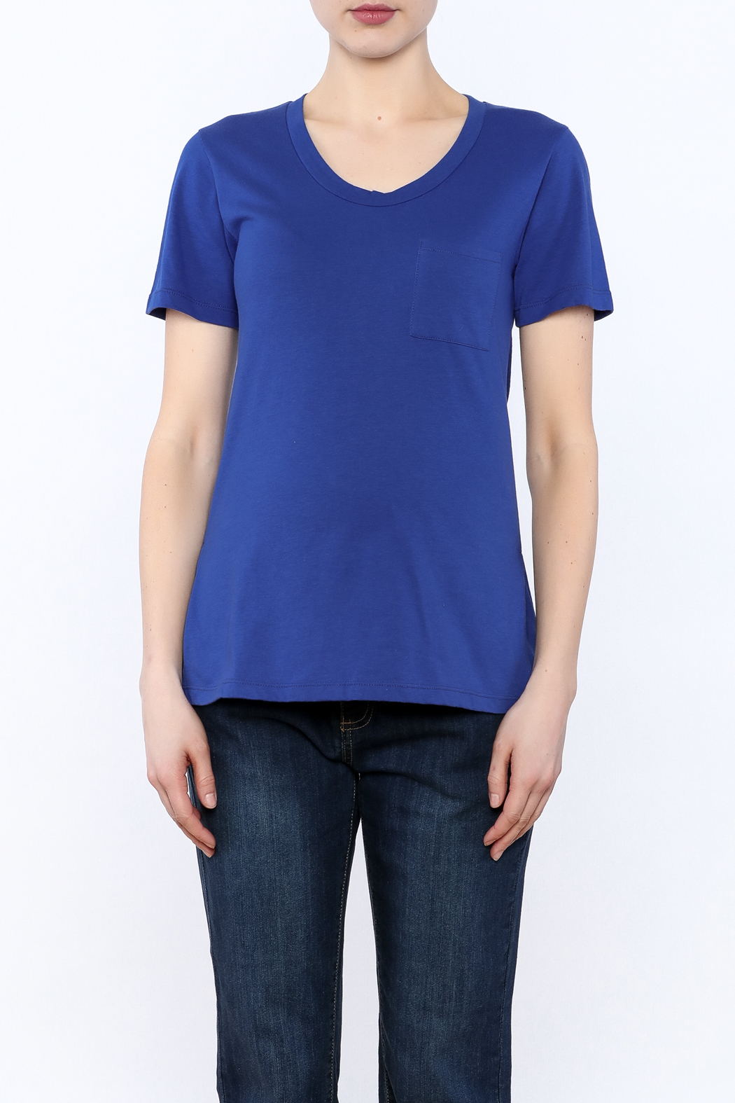 Dote Blue Short Sleeve Tee - Side Cropped Image