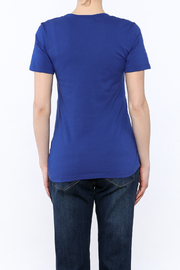 Dote Blue Short Sleeve Tee - Back cropped