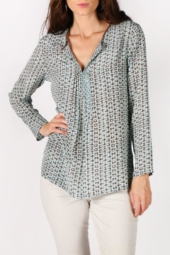 Rasa Dots Pleated Top - Product List Image