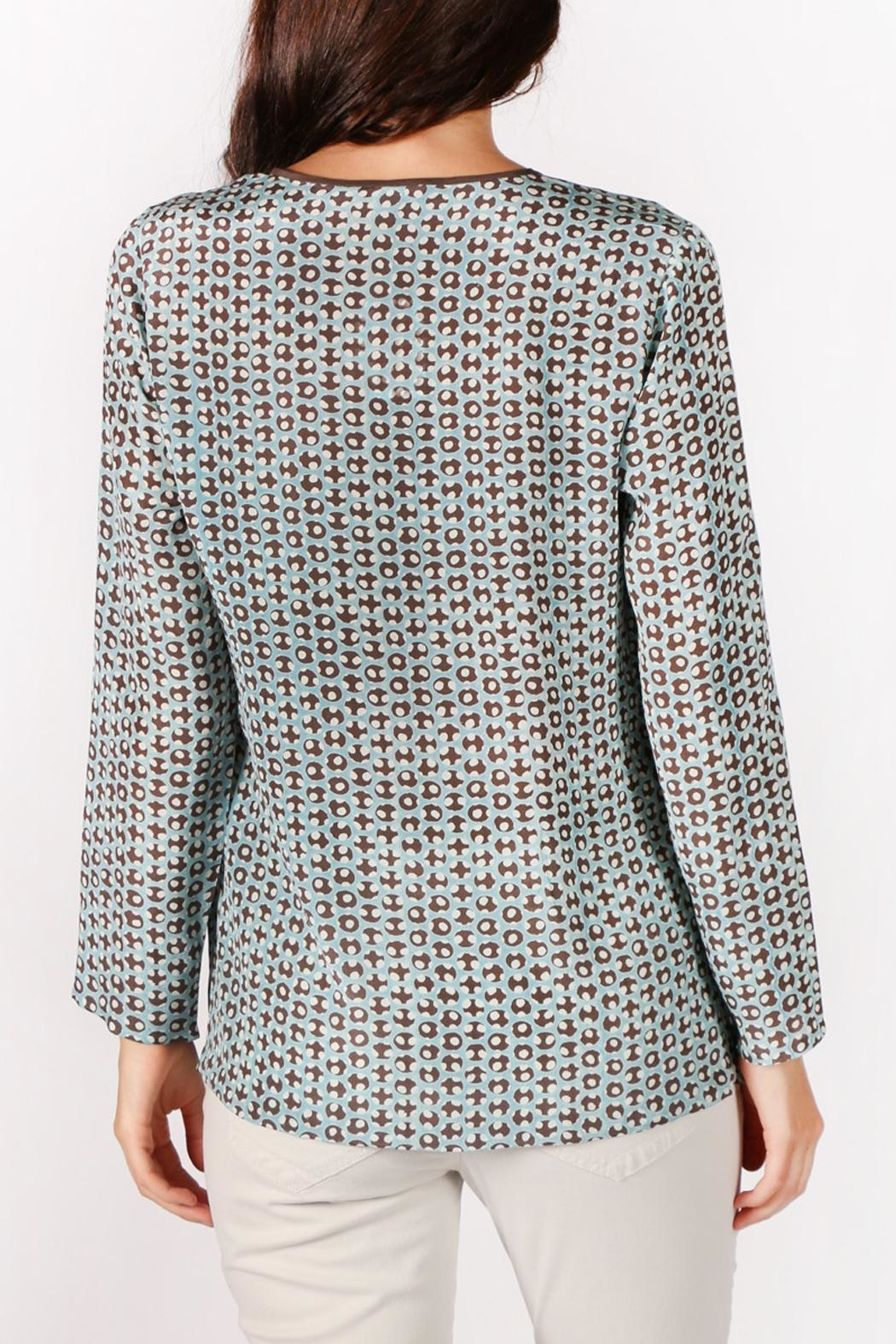Rasa Dots Pleated Top - Front Full Image