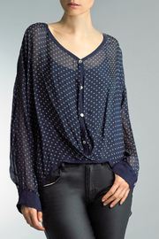 Tempo Paris Dotted Button Front Top - Product Mini Image