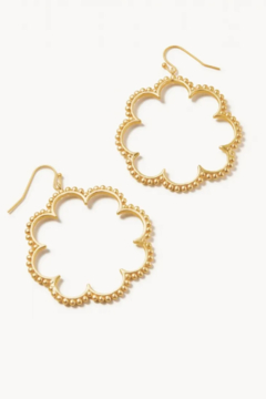 Shoptiques Product: Dotted Daisy Earrings