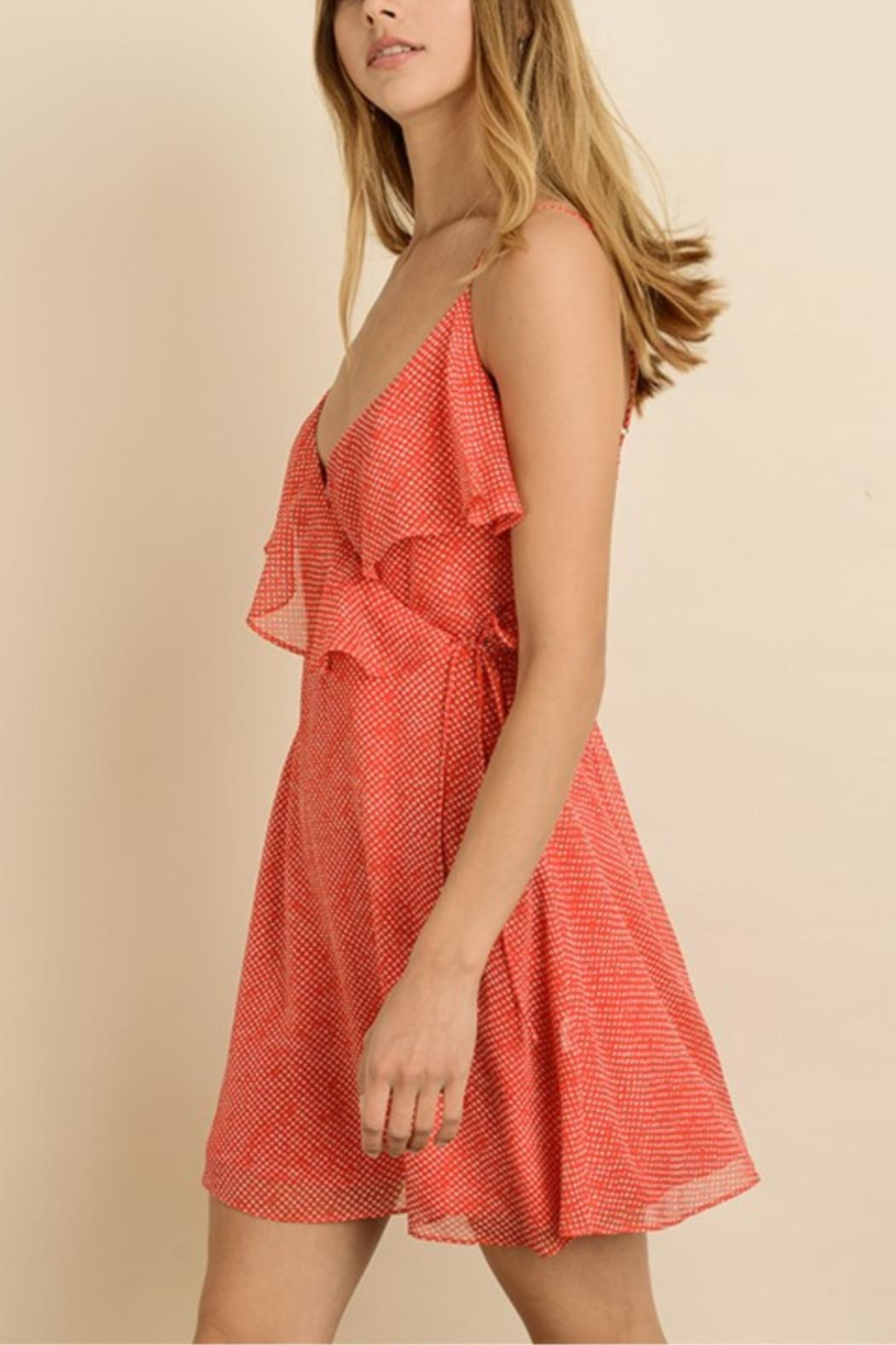 dress forum Dotted Mini Wrap-Dress - Front Full Image