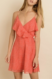 dress forum Dotted Mini Wrap-Dress - Front cropped