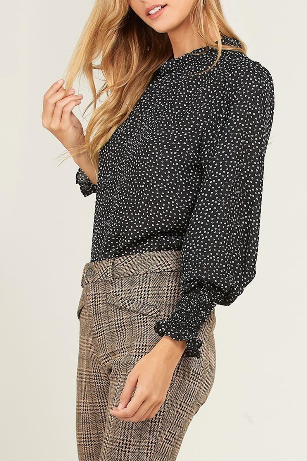 3d3a7236c3b60 Wishlist Dotted Mock-Neck Blouse from Virginia by mod&soul — Shoptiques