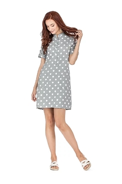 Joy Joy Dotted Placket Dress - Alternate List Image