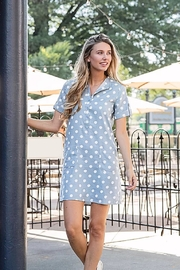 Joy Joy Dotted Placket Dress - Product Mini Image