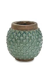 Mud Pie Dotted Planter - Front cropped