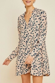 Hayden Los Angeles Dotted Ruffle-Collar Shirt-Dress - Product Mini Image