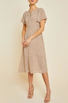 Hayden Los Angeles Dotted Swing Midi-Dress - Product List Image