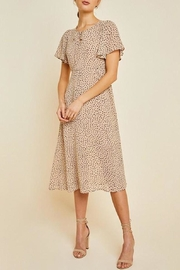 Hayden Los Angeles Dotted Swing Midi-Dress - Product Mini Image