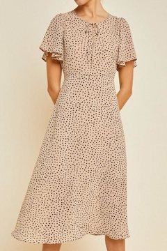 Hayden Los Angeles Dotted Swing Midi-Dress - Alternate List Image