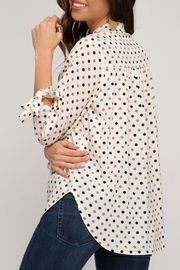 She + Sky Dotted Tunic Blouse - Other