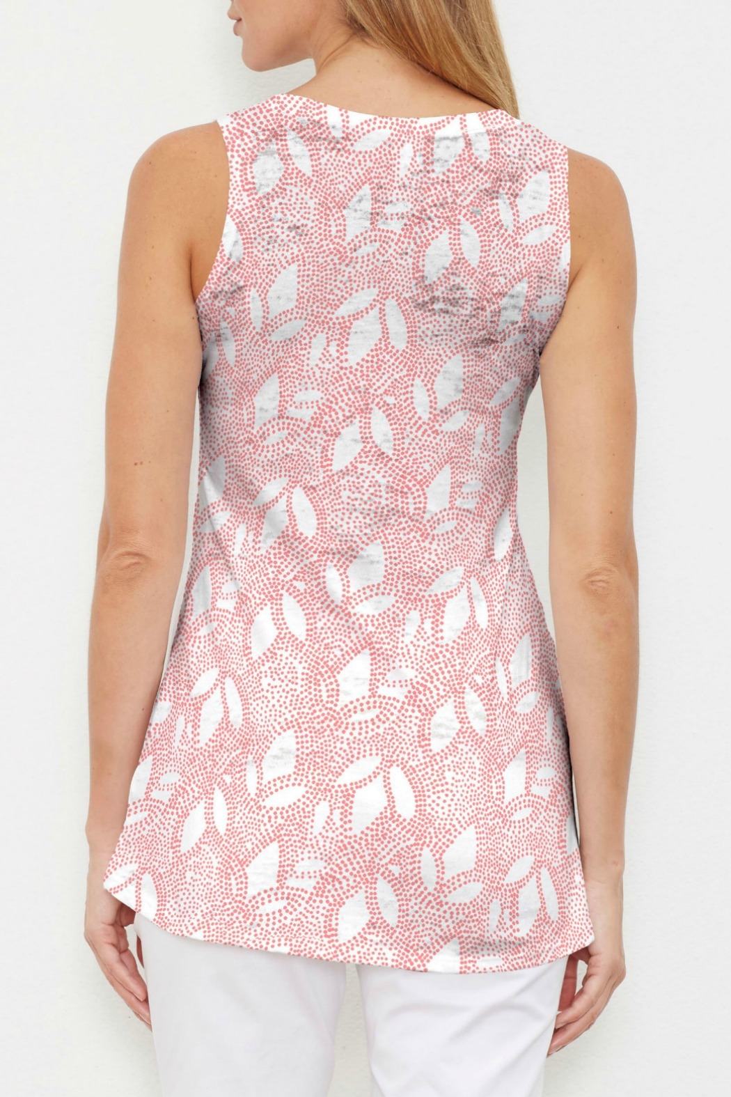 Whimsy Rose Dottie Coral High-Low Tank - Front Full Image