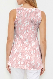Whimsy Rose Dottie Coral High-Low Tank - Front full body