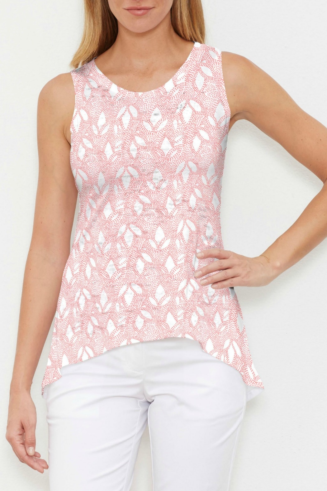 Whimsy Rose Dottie Coral High-Low Tank - Main Image