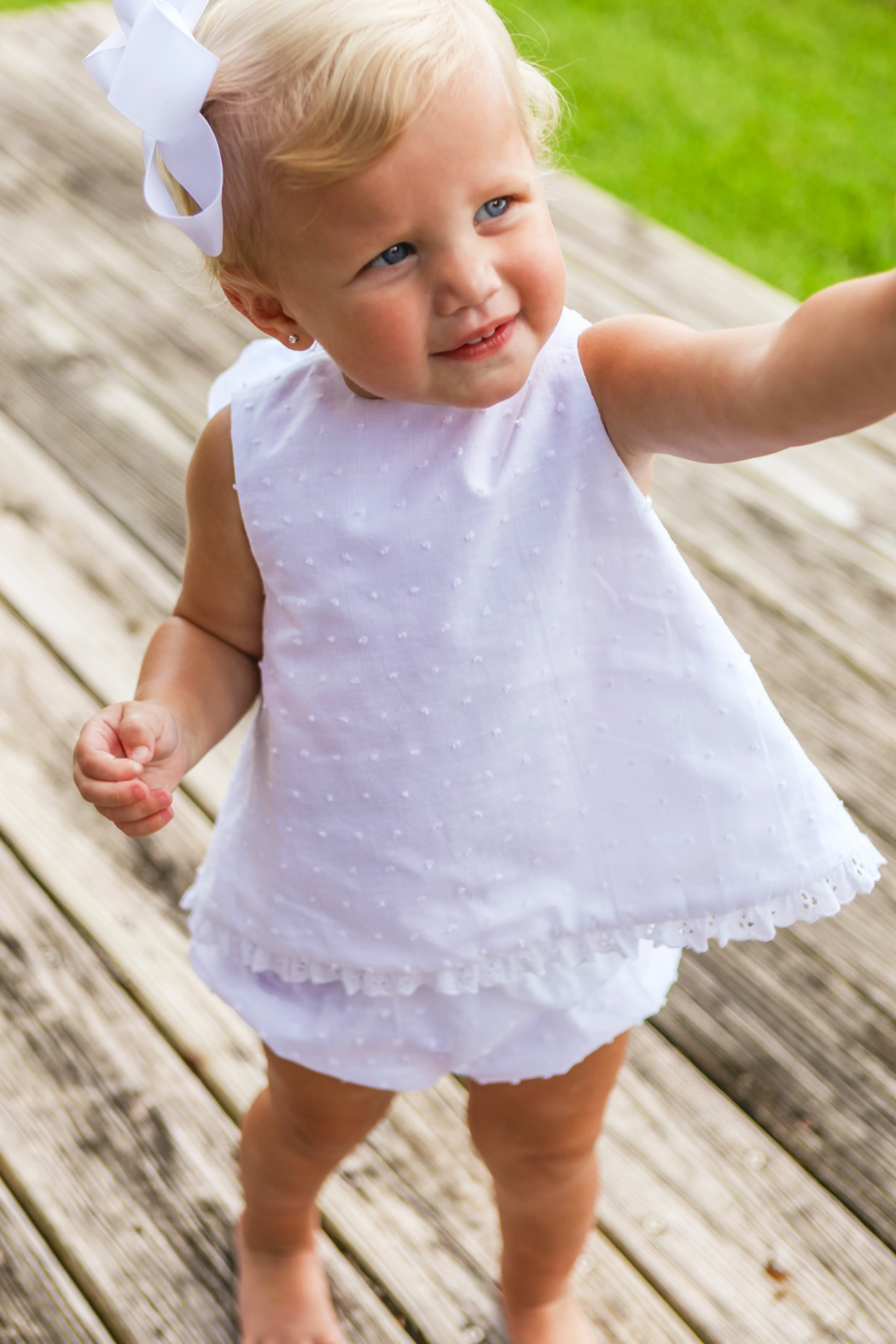 Bailey Boys Dottie Swiss Angel Dress with Bloomer - Front Full Image