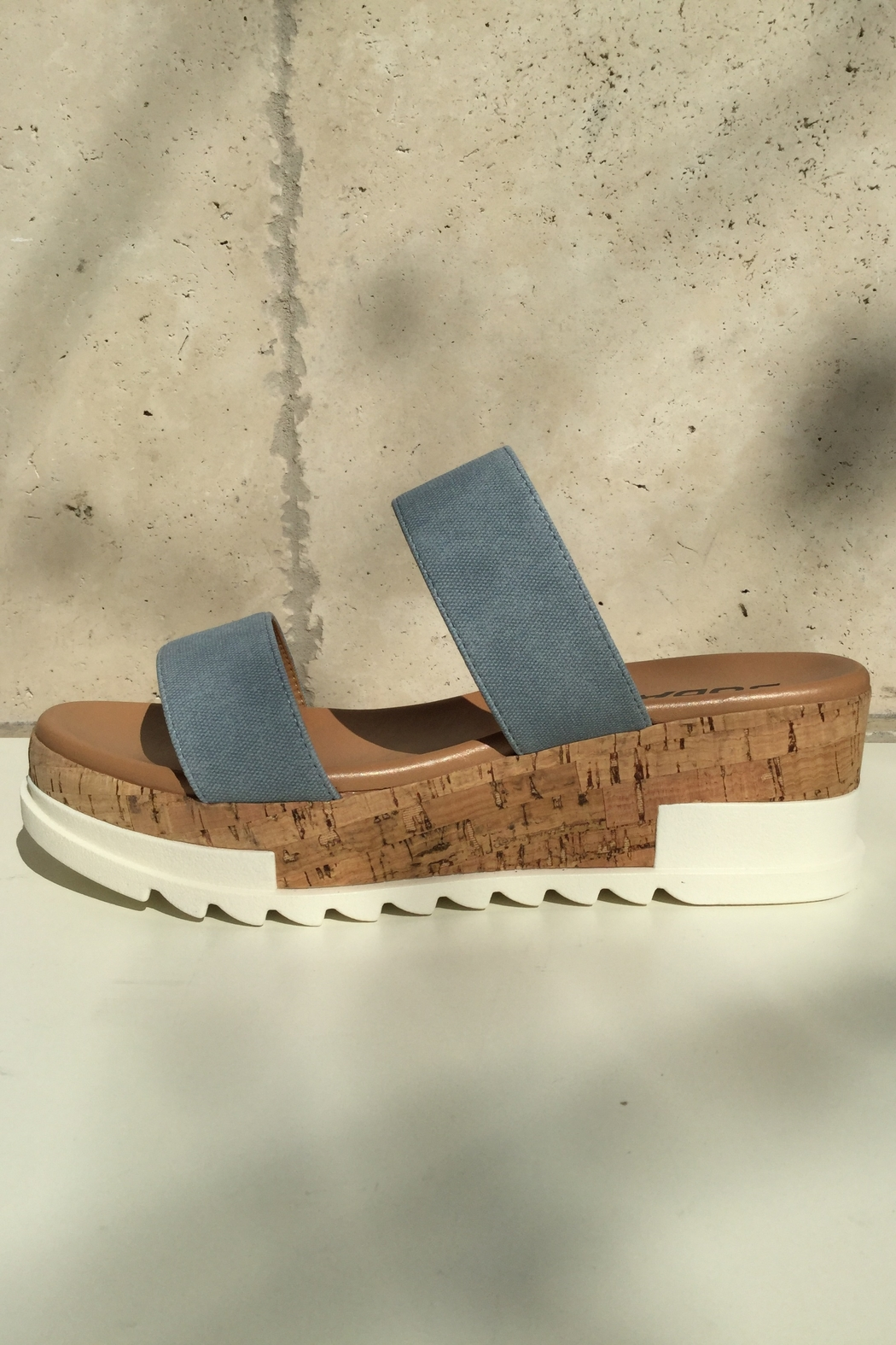 Soda Double Band Chunky Sandal - Front Full Image