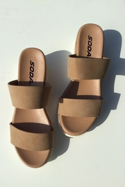 Soda Double Band Chunky Sandal - Product Mini Image