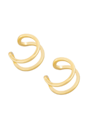 Fame Accessories Double Band Ear Cuff - Front cropped