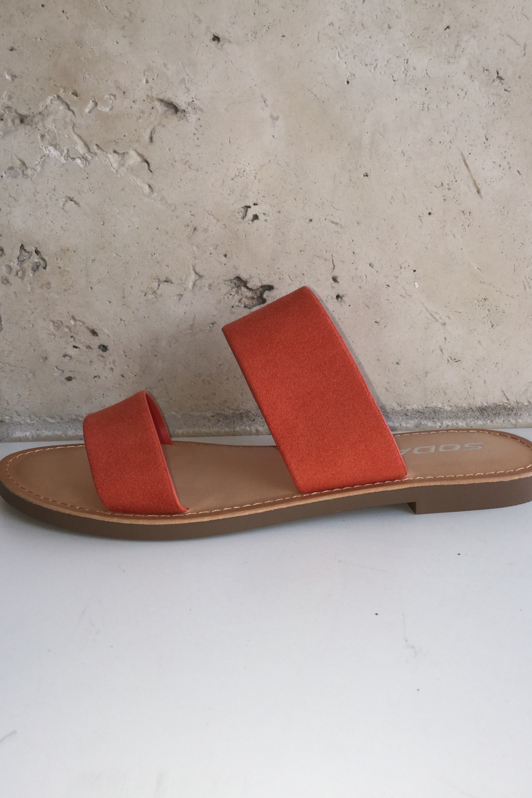 Soda Double Band Sandal - Front Full Image