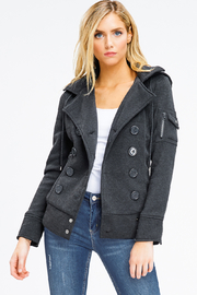 MONTREZ DOUBLE BREASTED HOODED JACKET - Front cropped