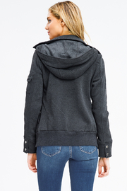 MONTREZ DOUBLE BREASTED HOODED JACKET - Back cropped