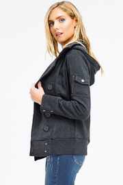 MONTREZ DOUBLE BREASTED HOODED JACKET - Side cropped