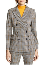Amanda Uprichard Double-Breasted Plaid Blazer - Product Mini Image