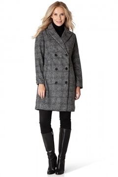Yest  Double Breasted Plaid Coat - Product List Image