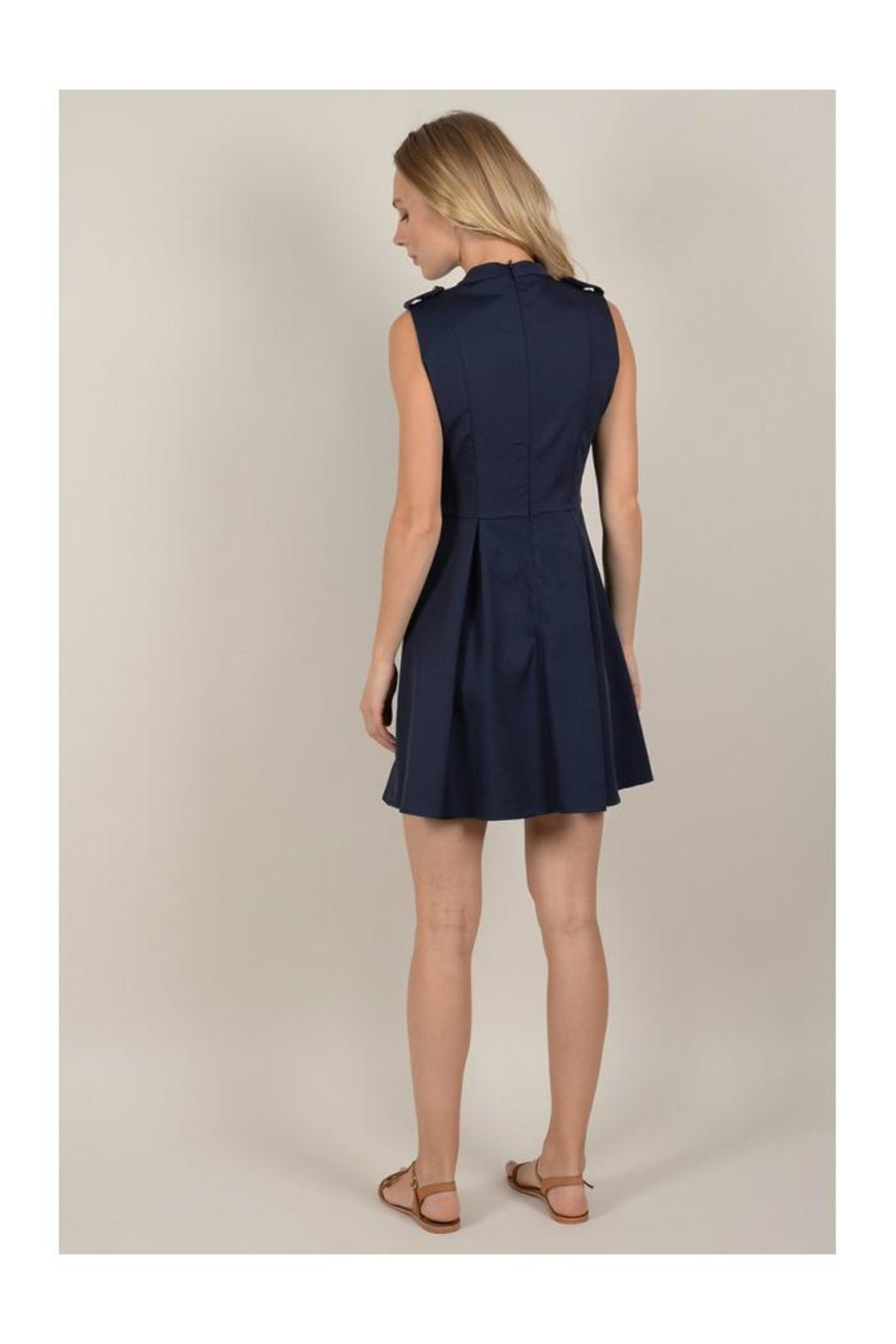 Molly Bracken Double Button Dress - Back Cropped Image