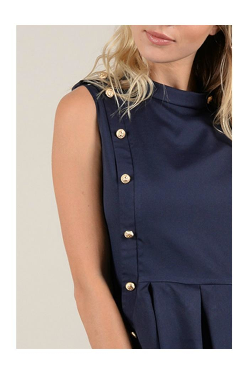 Molly Bracken Double Button Dress - Side Cropped Image