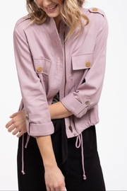 Blu Pepper Double-Button Pocket Jacket - Front cropped