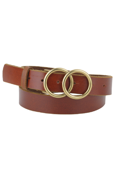 Most Wanted USA  Double Circle Buckle Leather Belt - Product List Image