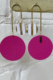 Blu Gertrude Double Circle Earring - Front cropped